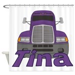 Trucker Tina Shower Curtain