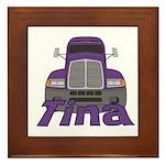 Trucker Tina Framed Tile
