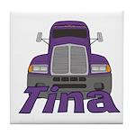 Trucker Tina Tile Coaster