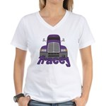 Trucker Tracey Women's V-Neck T-Shirt