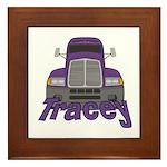 Trucker Tracey Framed Tile