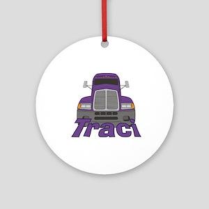 Trucker Traci Ornament (Round)