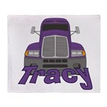 Trucker Tracy Throw Blanket
