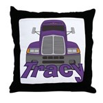 Trucker Tracy Throw Pillow