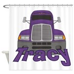 Trucker Tracy Shower Curtain