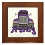 Trucker Tracy Framed Tile