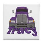 Trucker Tracy Tile Coaster