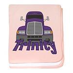 Trucker Trinity baby blanket