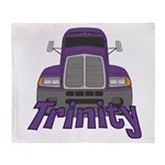 Trucker Trinity Throw Blanket