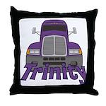 Trucker Trinity Throw Pillow