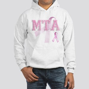 MTA initials, Pink Ribbon, Hooded Sweatshirt