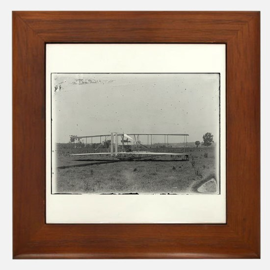 Wright Brothers Airplane Shop Framed Tile
