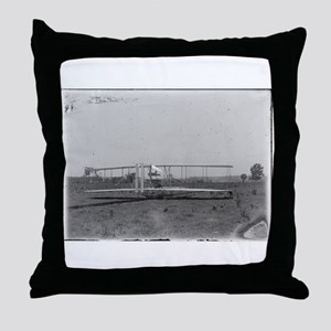 Wright Brothers Airplane Shop Throw Pillow