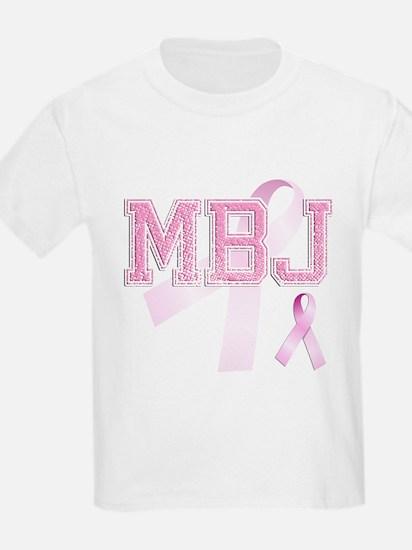 MBJ initials, Pink Ribbon, T-Shirt