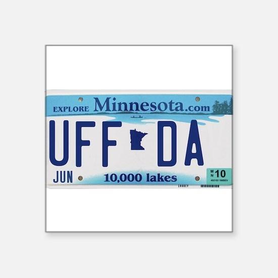 """Minnesota """"Uffda"""" Sticker"""