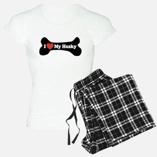 I Love My Husky - Dog Bone Pajamas