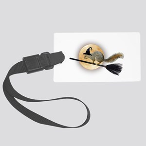 Witch Squirrel Large Luggage Tag