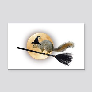 Witch Squirrel Rectangle Car Magnet
