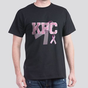 KFC initials, Pink Ribbon, Dark T-Shirt