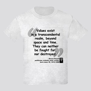 Powell Values Quote Kids Light T-Shirt