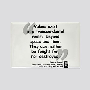 Powell Values Quote Rectangle Magnet