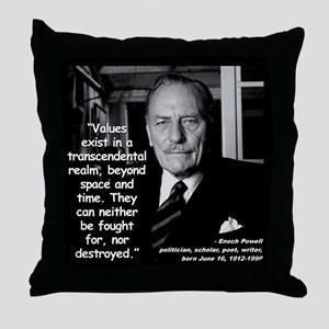 Powell Values Quote 2 Throw Pillow