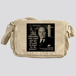 Powell Values Quote 2 Messenger Bag
