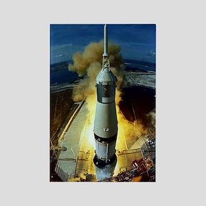 Apollo 11 Launch Rectangle Magnet