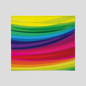 Bright Multicolored Rainbow Arcs Throw Blanket