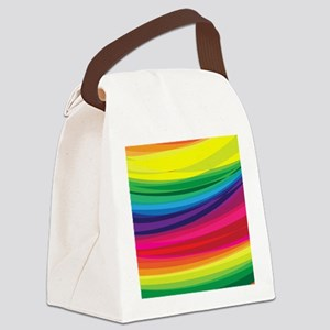Bright Multicolored Rainbow Arcs Canvas Lunch Bag