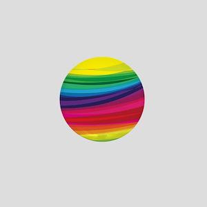 Bright Multicolored Rainbow Arcs Mini Button