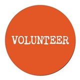 Volunteer Round Car Magnets