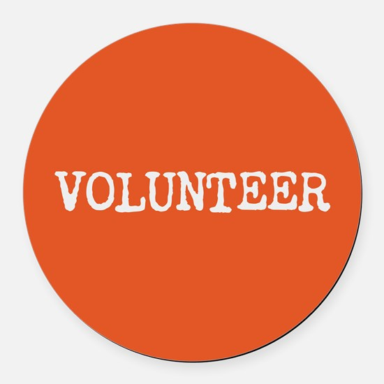 VOLUNTEER Round Car Magnet