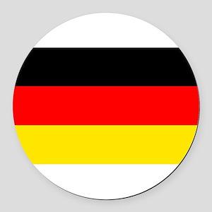 German Flag Round Car Magnet