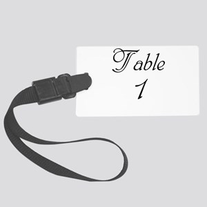 Table Number 1 Large Luggage Tag