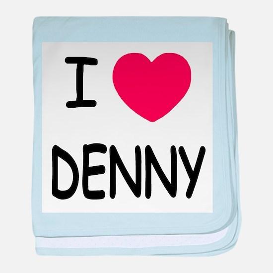 I heart DENNY baby blanket