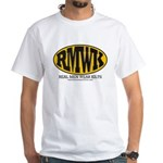 Real Men Wear Kilts White T-Shirt