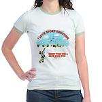 I Love Sport Shooting Jr. Ringer T-Shirt