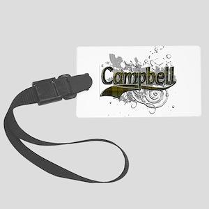 Campbell Tartan Grunge Large Luggage Tag