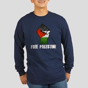 Free Palestine White Long Sleeve T-Shirt