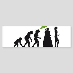 evolution woman Sticker (Bumper)