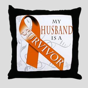 My Husband is a Survivor Throw Pillow