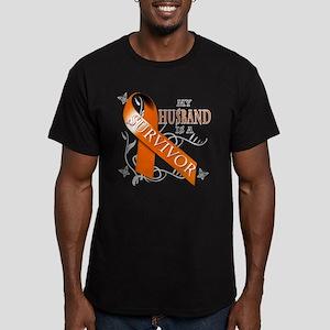 My Husband is a Survivor Men's Fitted T-Shirt (dar