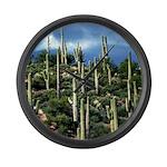 Many Saguaros In Az Large Wall Clock