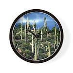Many Saguaros In Az Wall Clock