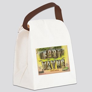 Fort Wayne Indiana Canvas Lunch Bag