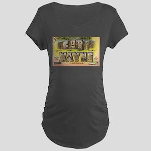 Fort Wayne Indiana Dark Maternity T-Shirt