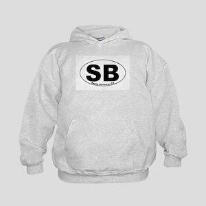 SB (Santa Barbara)  Kids Hoodie