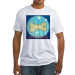 Starry Night PLANET OF THE DOGS Fitted T-Shirt