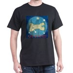 Starry Night PLANET OF THE DOGS Black T-Shirt